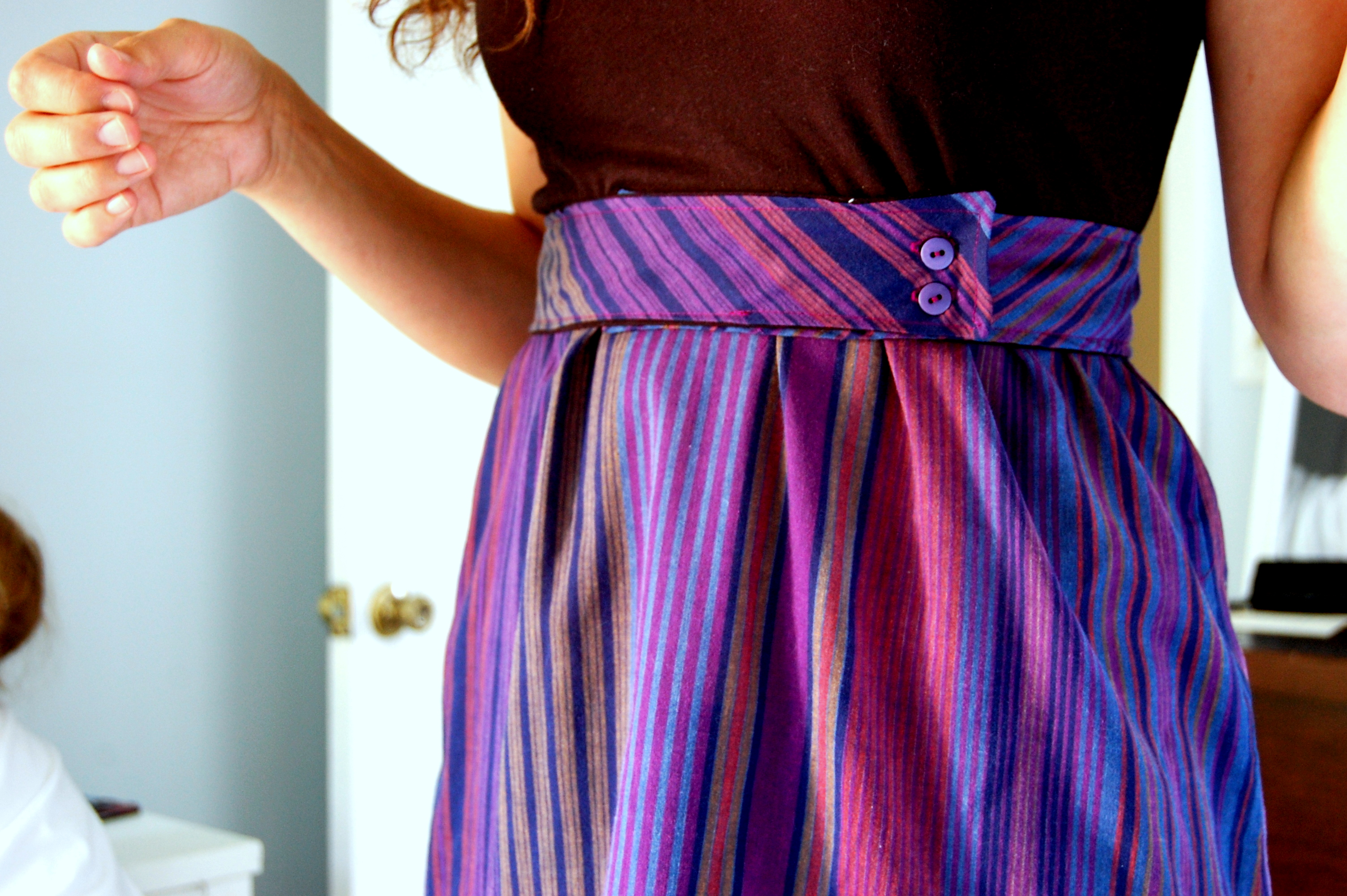 Upcycled old dress to new dress hungie gungie for Make a dress shirt