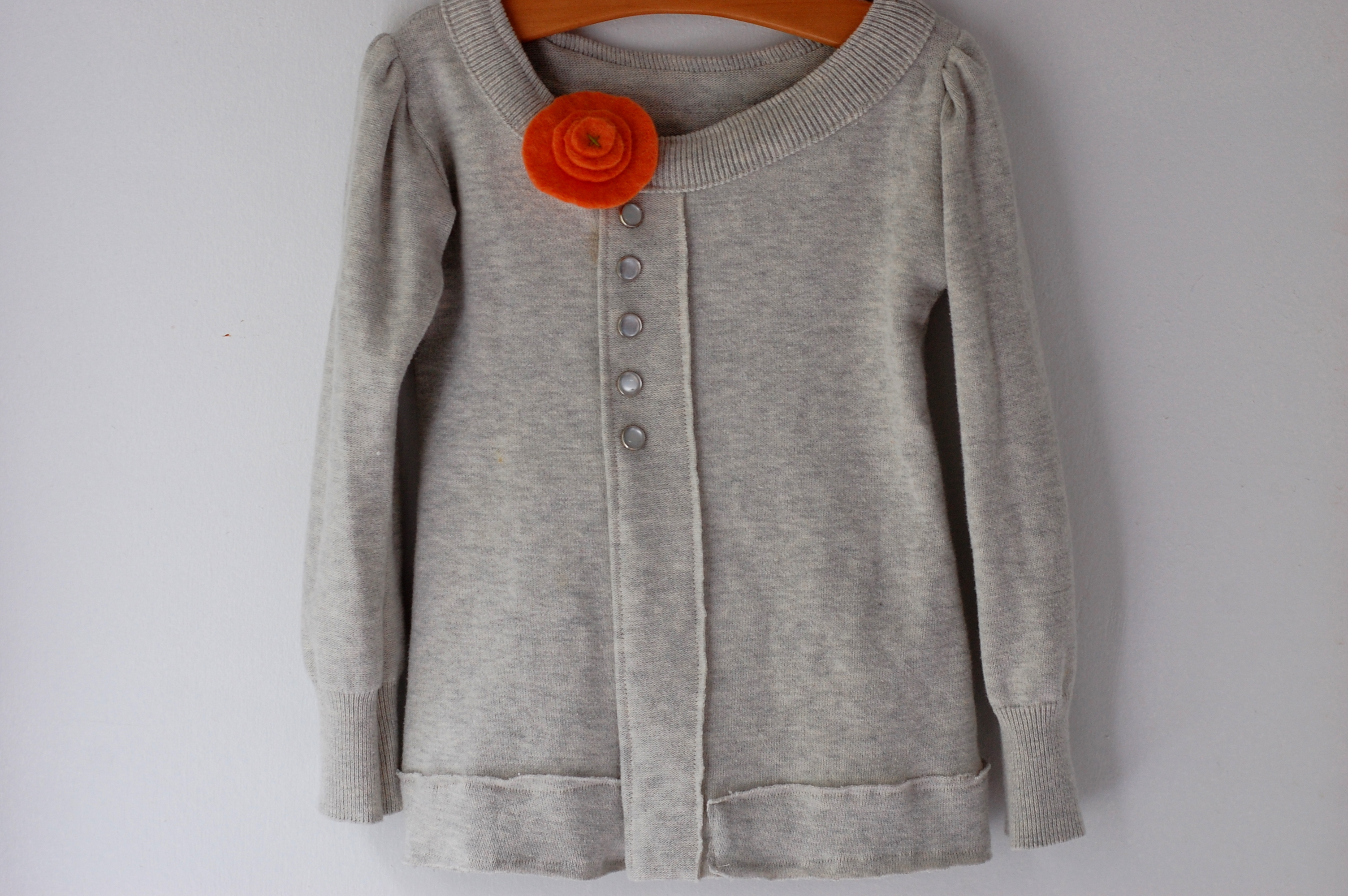 UPcycled: dad's sweater into girl's cardigan (kcwc day 2) | HUNGIE ...